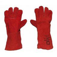 Geruwd Lederen Handschoenen