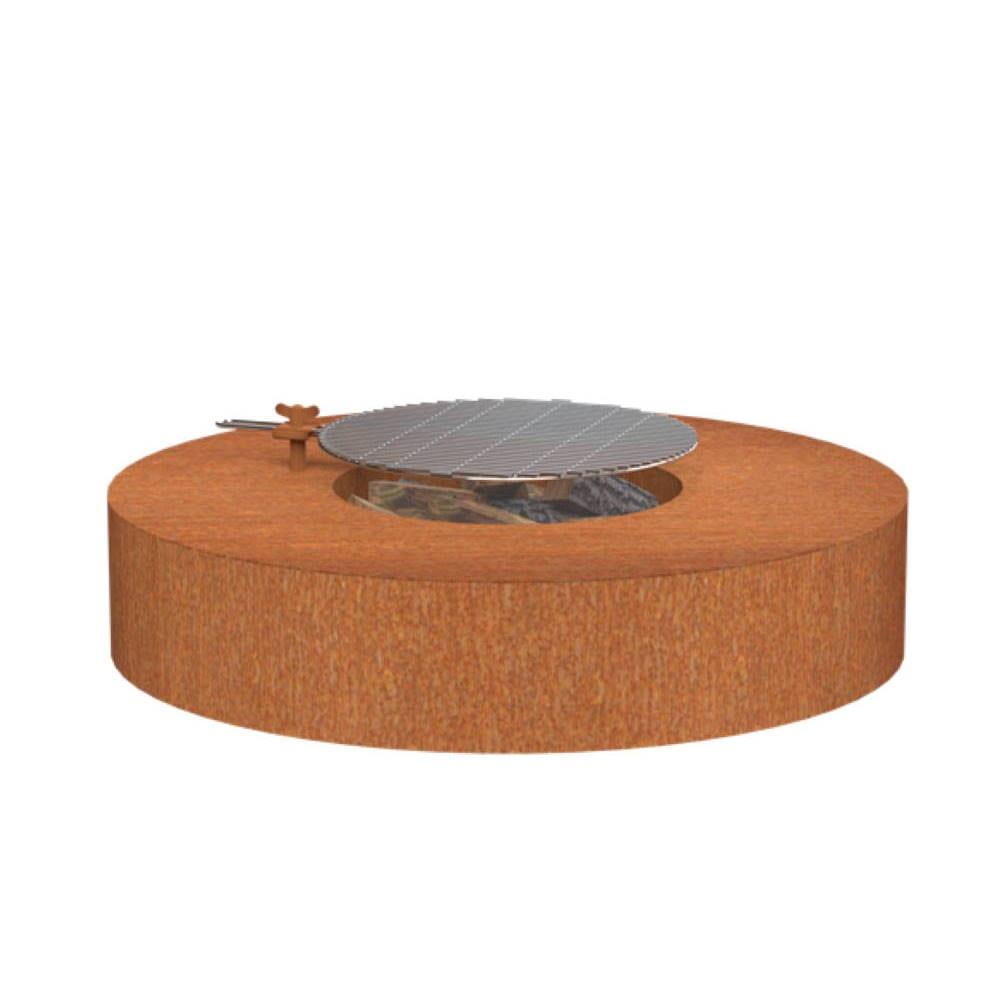 FORNO® Vuurtafel Rond 125 cm met Grill